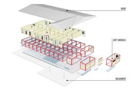 3_Horizontal modular system with double roof